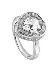 Guess Damen Herz Ring UBR28507-54 rhodiniert  poliert mit weißen Steinen neu