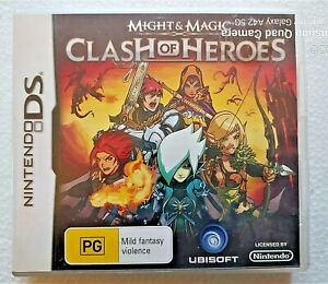MIGHT & MAGIC CLASH OF HEROES DS NINTENDO Case-sleeve-book-card included Used