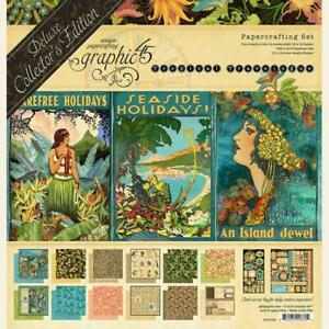 Graphic 45 Tropical Travelogue Deluxe Collector's Edition 12x12 Paper Pack