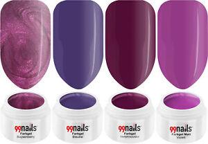 UV Farbgel Set - Purple Love 5ml / UV LED Color Gel Nails ! Made in Germany !