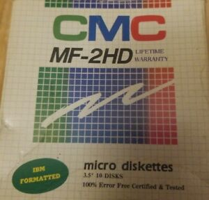 Vintage CMC MF 2HD Micro Diskettes 10 IBM Formatted Disks