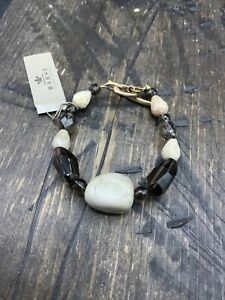 Barse Mirador Toggle Bracelet- Mixed Stones- Bronze- New With Tags