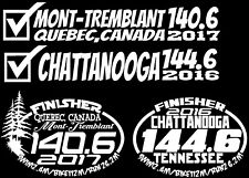 A set of Six Ironman Chattanoog, Mont-TrembTriathlon Finisher Decal Stickers