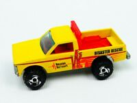 Vintage Hotwheels 1982 Disaster Rescue vehicle yellow. Diecast collectable
