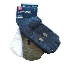 3-pack Under Armour Men's UA Phenom Training Crew Socks Guardian Green Assort L