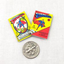 Superman Comic Books 2 Dollhouse Miniatures Illustrated Readable 1:12 Scale