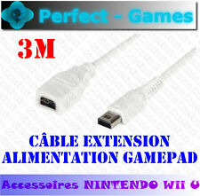 Nintendo Wii U Gamepad Cable rallonge extension power alimentation 3 mètres