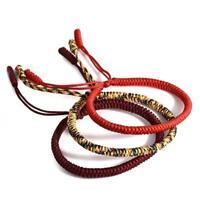 Buddhist Knots Rope Tibetan Buddhist Bracelet Handmade Lucky Rope Bracelet HOT!