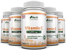 Vitamine C 1000mg Nu U 5 bouteilles Grande Force 900 Comprimés 100% Garantie