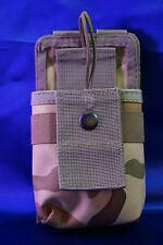 Woodland Camouflage Tactical Molle Radio Walkie Talkie Pouch Carrier New