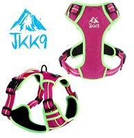 JKK9 Off-Piste Dog Harness Padded Reflective & Adjustable | Pink | 5 sizes