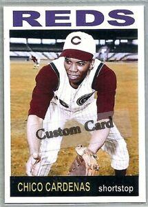 CHICO CARDENAS CINCINNATI REDS 1964 STYLE CUSTOM MADE BASEBALL CARD