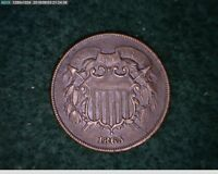 1865 2C Two Cent Civil War Coin ( 7s168 )