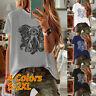 Size Women Short Sleeve O-Neck Cat Elephant Casual Loose Tops Blouse T-shirt Tee