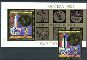 Briefmarken Zentralafrikanische Republik 1979 ** Nr: 622 + Block 65 A BR167