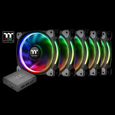Thermaltake Riing Plus 12 LED RGB TT Premium Fan (5 Pack),  CL-F054-PL12SW-A