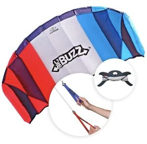 Flexifoil Power Kite Kit - 2.05m 'Big Buzz' - Beach Sport Stunt Trick Adult Kids