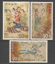 Japón 1973 Arte/Pintura/tumba murales/Dragon/Conservation 3v Set (n24632)