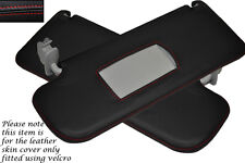 RED STITCHING FITS SEAT LEON MK1 1999-2006 2X SUN VISORS LEATHER COVERS ONLY