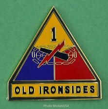 "1st Armored Division CSIB Combat Service ID Badge  Div. ""OLD IRONSIDES"""