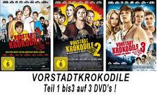 3 DVDs  * VORSTADTKROKODILE TEIL 1 - 3 im SET # NEU OVP +