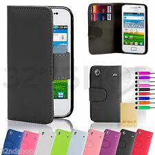 Libro De 32nd Billetera Estuche Cubierta Samsung Galaxy Ace teléfonos + screenprotector y Stylus