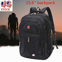 15.6'' Men Laptop Backpack Waterproof Travel School Shoulder Bag Satchel  A
