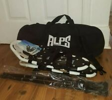 """Alps Black White All Terrain 22"""" Snowshoes w/ Carrying Bag & Anti-Shock Poles"""