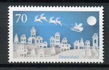 Germany 2018 MNH Christmas Santa Reindeer 1v Set Stamps