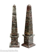 Obelisco in Marmo Salomè Marble Obelisk Classic Sculpture Home Old Design H 33cm