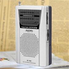 Mini Portable AM FM Radio Speaker Telescopic Antenna 3.5mm Earphone Jack TR