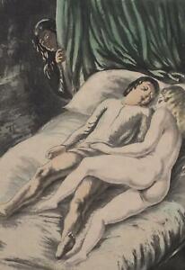 BERTHOMME SAINT ANDRE :  les deux amants - Lot de 2 EAUX FORTES, 1931