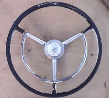 "1957 1960 Ford Truck STEERING WHEEL w/ ""POWER STEERING"" HORN RING Original OEM"