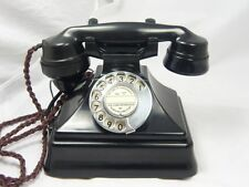 VINTAGE ART DECO BAKELITE TELEPHONE ON BELLBOX pyramid BELL SET retro ANTIQUE