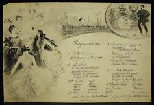 Programme de festivité parisienne vers 1900 à déterminer