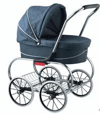 Valco Princess Tailormade Doll Stroller - Denim Blue