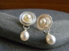 Charming 925 Silver Pearl Dangle Drop Earrings Stud Ear Hook Women Party Jewelry