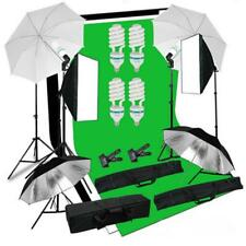 25PC Photography Studio Softbox Reflective Umbrella Light Back Stand Head Kit