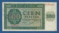 ESPAÑA // SPAIN -- 100 PESETAS ( 1936 ) -- EBC- // VF+ -- SERIE F -- PICK 101a .