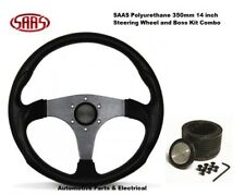 SAAS 14 Inch 350mm Sports Steering Wheel & Boss Kit Holden VR Commodore ADR