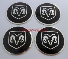 56MM Wheel Center Hub Caps Stickers Black Rims Decals For Dodge RAM 4PCS t5613