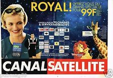 Publicité advertising 2002 (2 pages) Canal Satellite