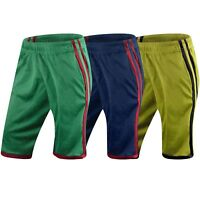 New Men Mesh Basketball Gym Striped Shorts Lightweight Sizes S-3XL