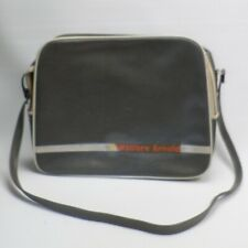 More details for wallace arnold coach travel vintage 1960s? 70s? bag satchel grey + white