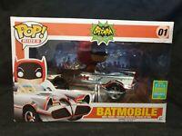 Funko Pop! Rides! Batman Classic Series. Batmobile Chrome Sdcc 2016 Exclusive