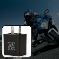 2 Pin Motorcycle Blinker Adjustable LED Flasher Relay Turn Signal Indicator New