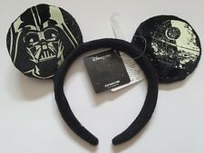 Disney Disneyland Star Wars Mickey Minnie Mouse Black Ears Headband Darth Vadar