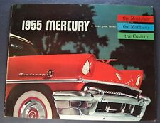 1955 Mercury Large 24pg Brochure Monterey Montclair Custom Excellent Original 55