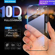 10D Courbé Complet Housse Protecteur Écran Verre Trempé pour Iphone XR - Noir UK