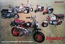 "HONDA Monkey Bike POSTER 23""x34"" JAPANESE Mini MOTORBIKES 7 Models v4 Free Ship"